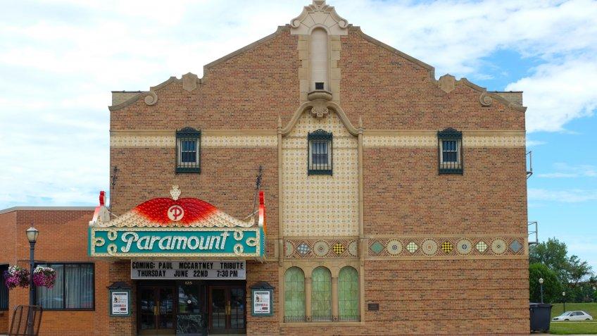 AUSTIN, MINNESOTA - JUNE 21, 2017: The Paramount Theater.