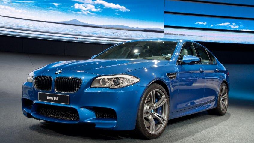 FRANKFURT - SEPT 25: BMW M5 on display at the 64th Internationale Automobil Ausstellung (IAA) on September 25, 2011 in Frankfurt, Germany.