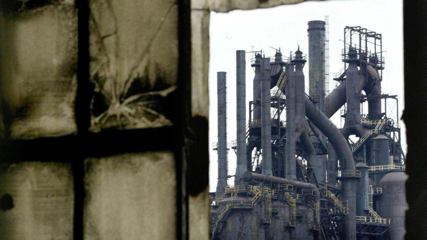 Bethlehem Steel factory in United States