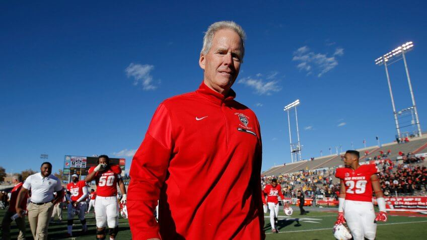 Bob Davie, football coach, University of New Mexico