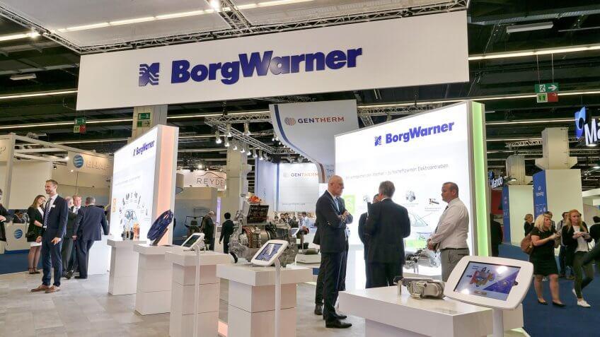 BorgWarner exhibition booth