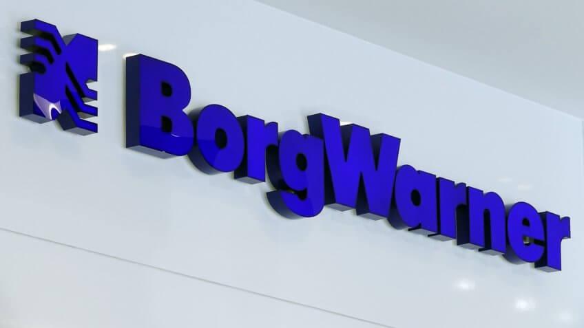 BorgWarner exhibition signage
