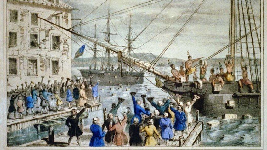 Boston Tea Party illustration