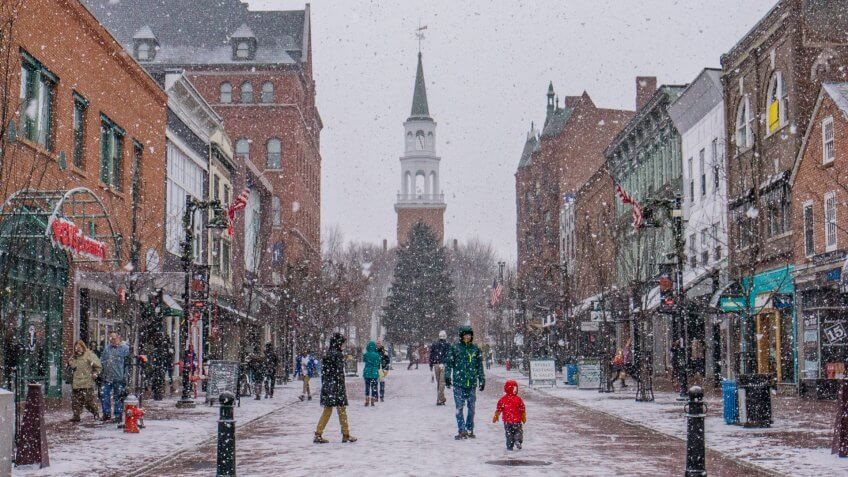 Burlington Vermont winter