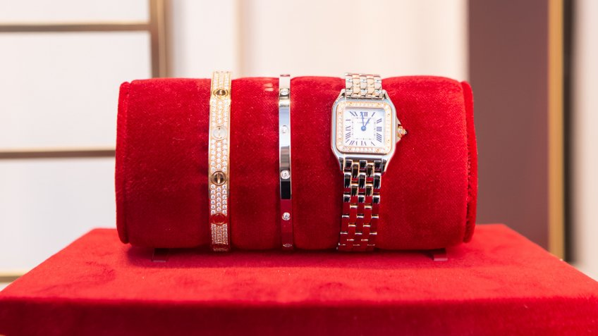 Cartier bracelets and watch