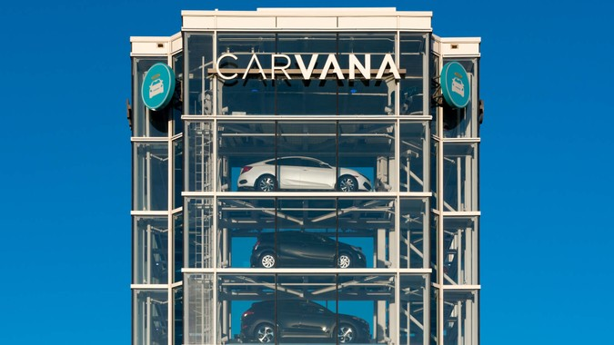 TEMPE, AZ/USA - APRIL 10, 2019: Carvana automobile dealership vending machine.