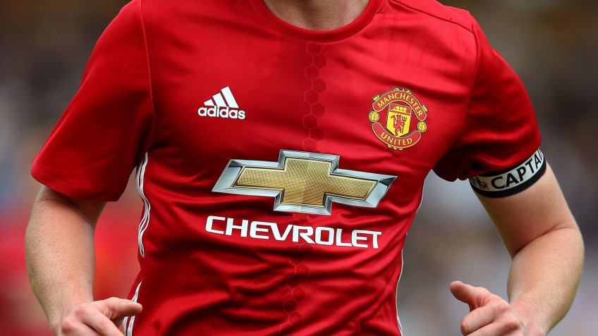 Manchester United sponsored by Chevrolet