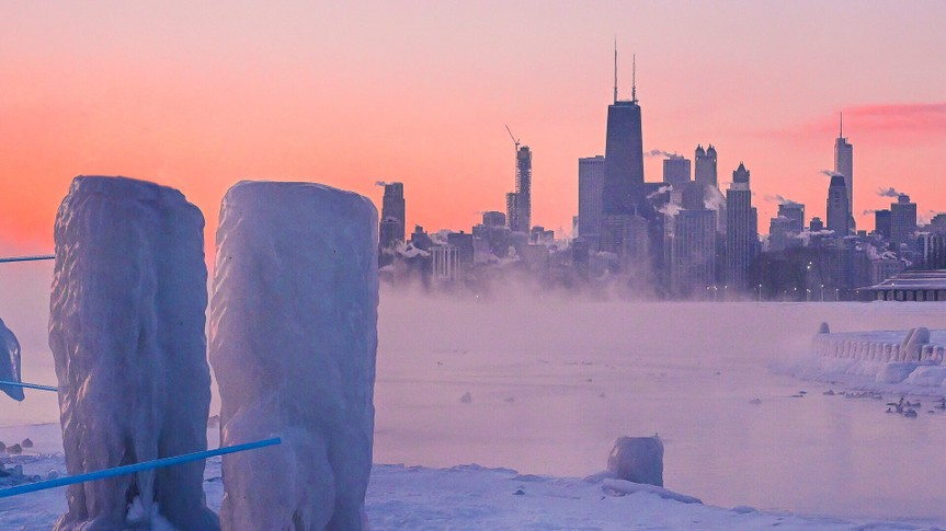 Chicago Illinois polar vortex winter