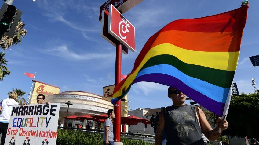 Chick-Fil-A LGBTQ protest