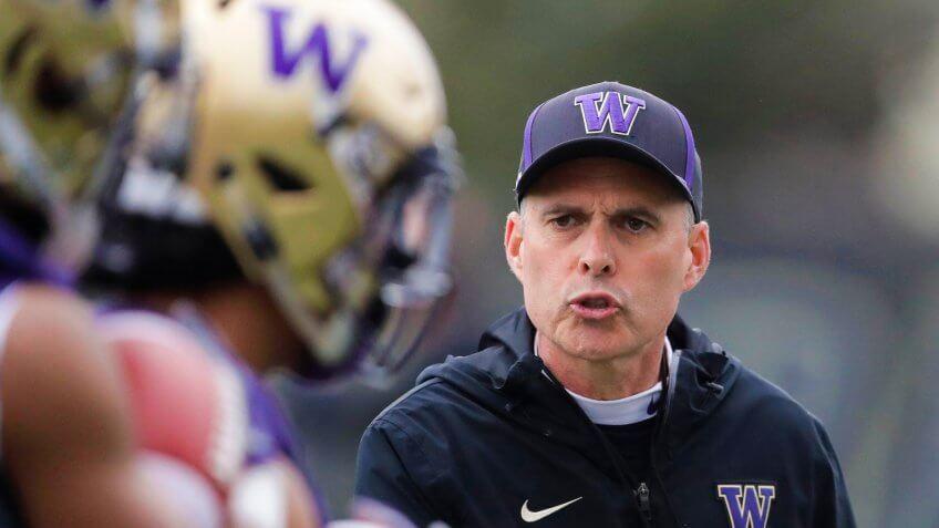 Chris Petersen, football coach, University of Washington