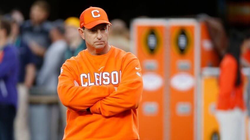 Dabo Swinney, football coach, Clemson University