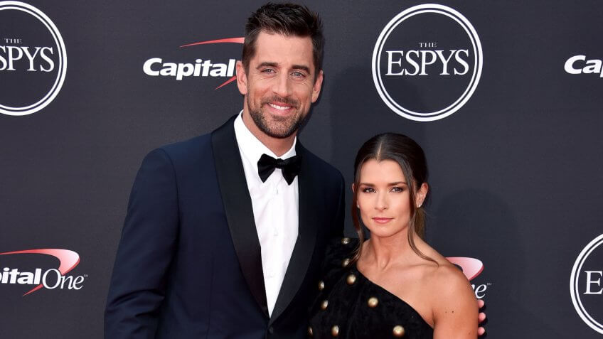 Danica Patrick and Aaron Rodgers sports couple