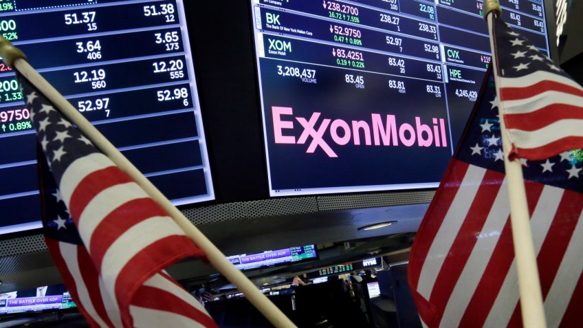 ExxonMobil stock trading New York Stock Exchange