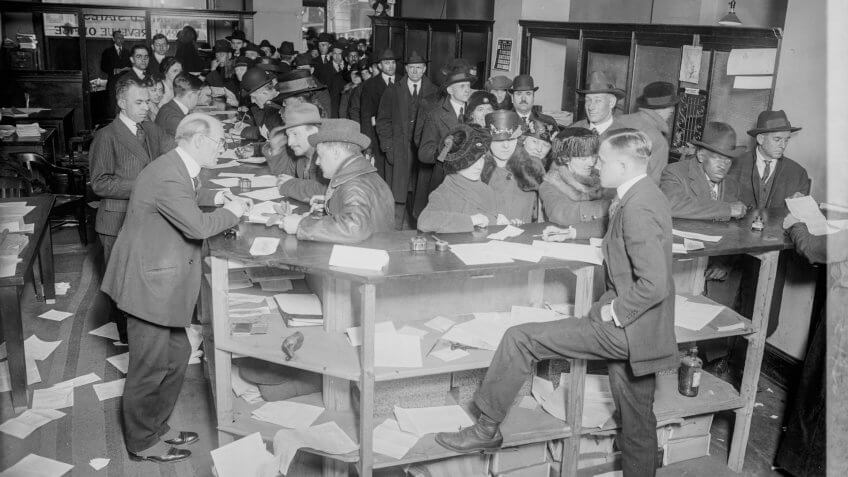 Filing income taxes in the 1920s