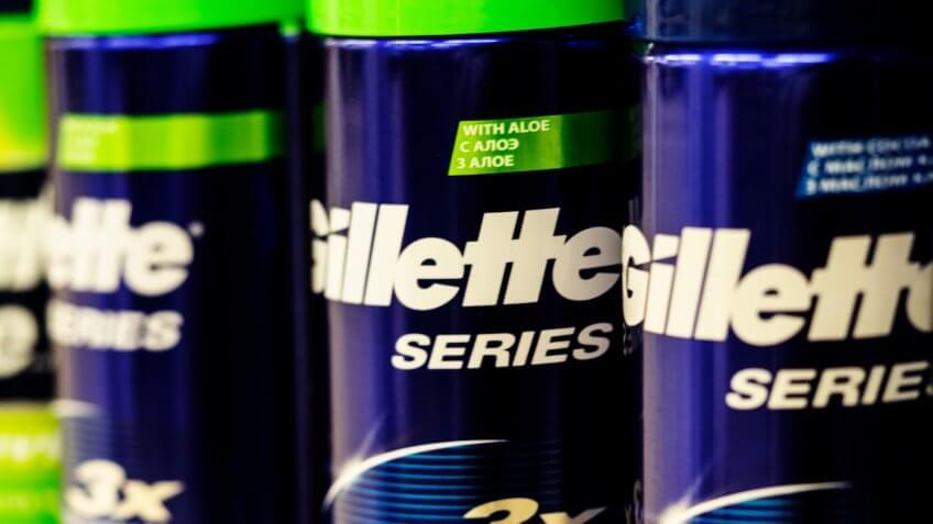Gillette razor and shaving cream brand