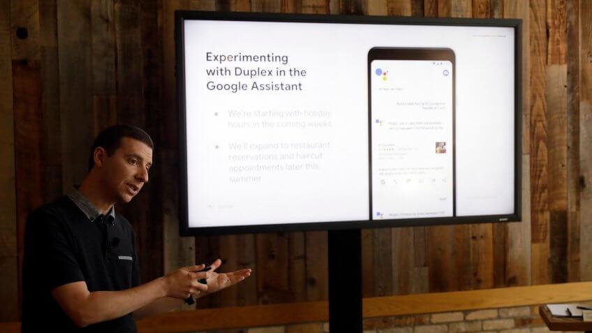 Google AI Duplex assistant