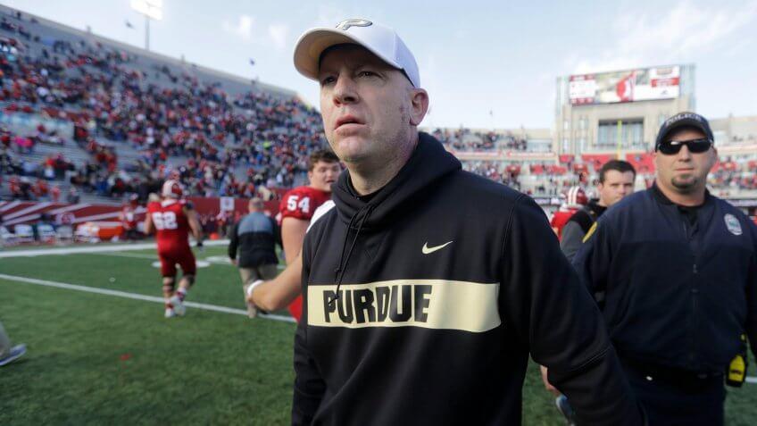 Jeff Brohm, football coach, Purdue University