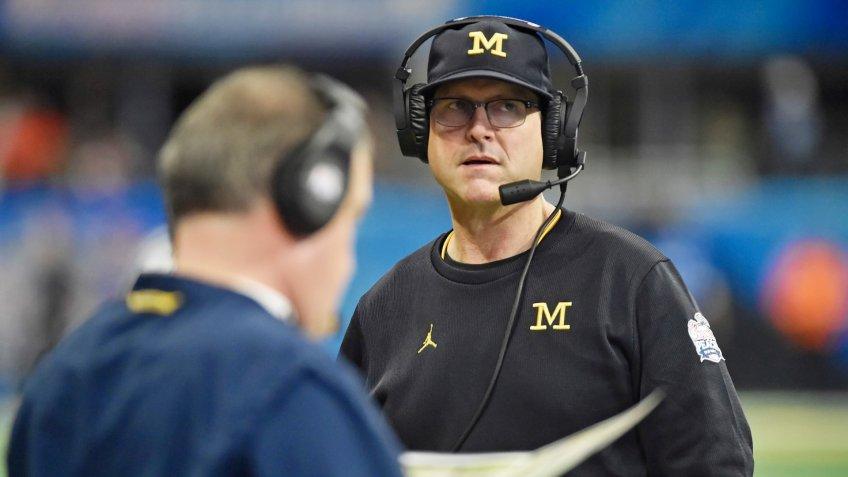 Jim Harbaugh, football coach, University of Michigan