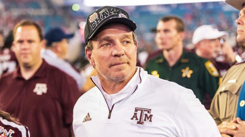Jimbo Fisher, football coach, Texas AM University