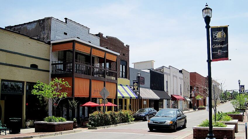 Downtown Jonesboro, Arkansas, June 2011.
