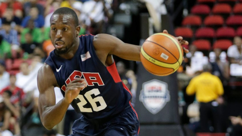 Mandatory Credit: Photo by Julie Jacobson/AP/Shutterstock (6208307o)Charlotte Bobcats' Kemba Walker drives to the basket during the USA Basketball Showcase game, in Las VegasUSA Basketball, Las Vegas, USA.