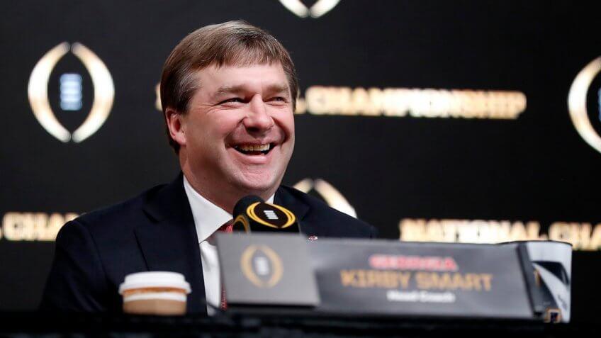 Kirby Smart, football coach, University of Georgia