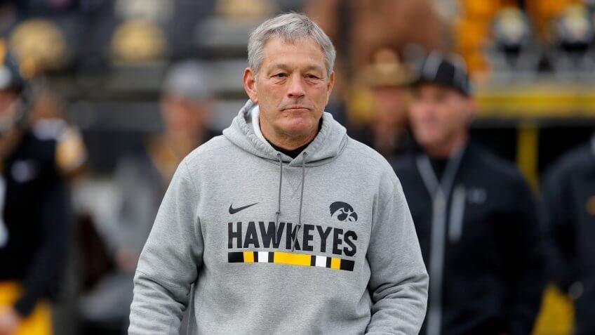 Kirk Ferentz, football coach, University of Iowa