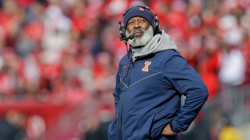 Lovie Smith, football coach, University of Illinois at Urbana Champaign