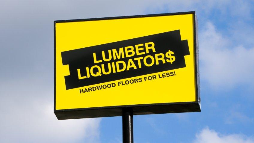 Lumber Liquidators sign