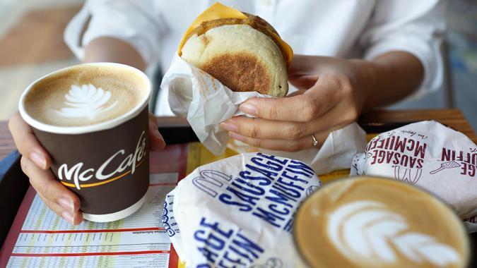 McDonalds breakfast meal