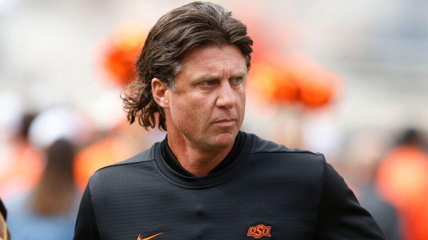 Mike Gundy, football coach, Oklahoma State University