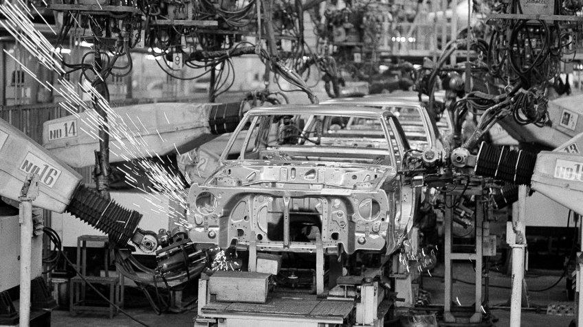 Nissan Motor Company car assembly in Japan