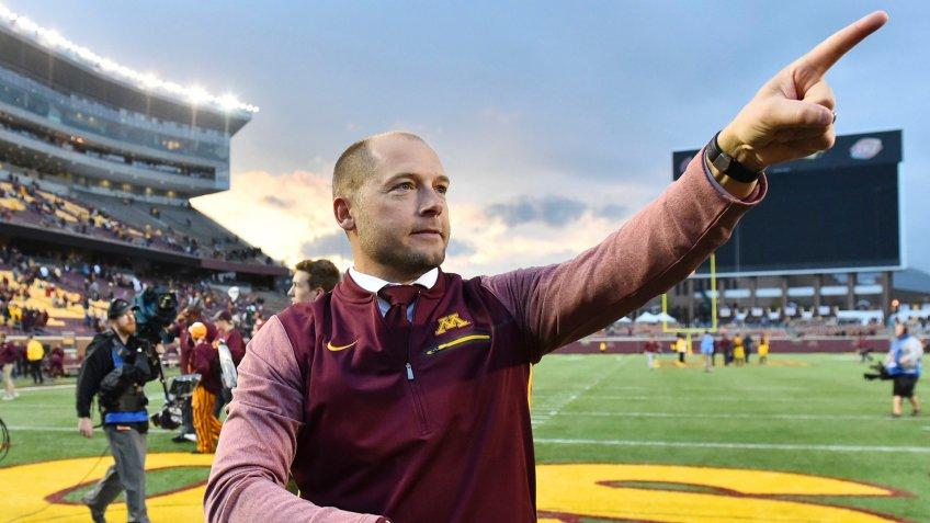 P.J. Fleck, football coach, University of Minnesota