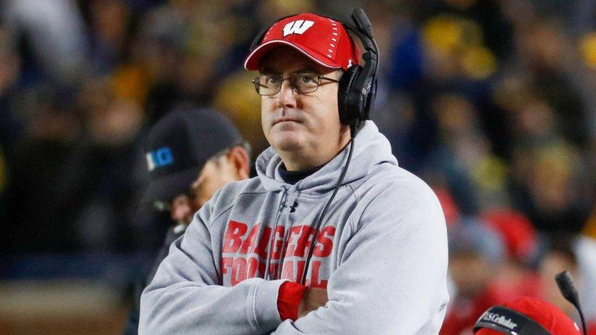 Paul Chryst, football coach, University of Madison at Wisconsin