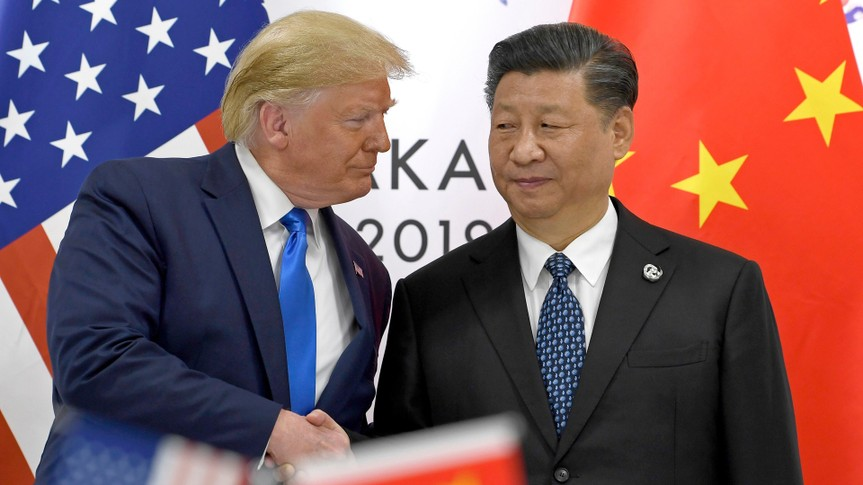 President Trump with Chinese President Xi Jinping at G20 Summit in Japan