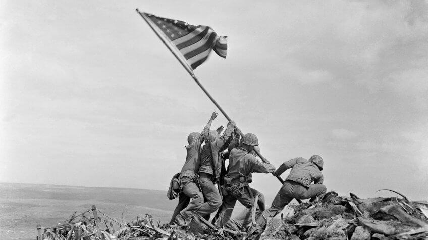 U.S. Marines Raising the Flag on Iwo Jima