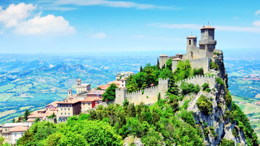 Della Guaita or Rocca in the oldest and most famous tower of San Marino.