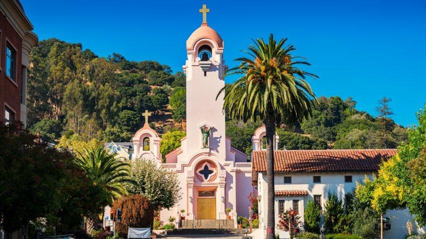 Photo of Mission San Rafael Arcangel, one of the most recognizable landmarks in San Rafael, California, USA.