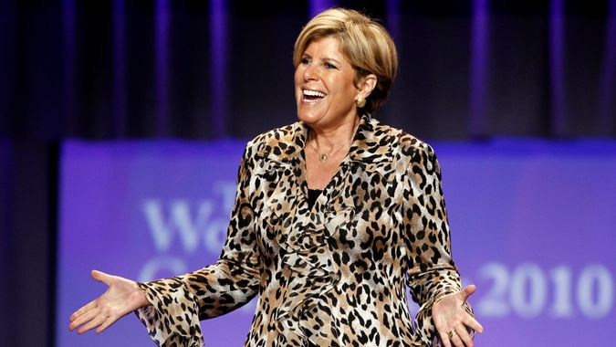Suze Orman talking at Women's Conference in Long Beach California