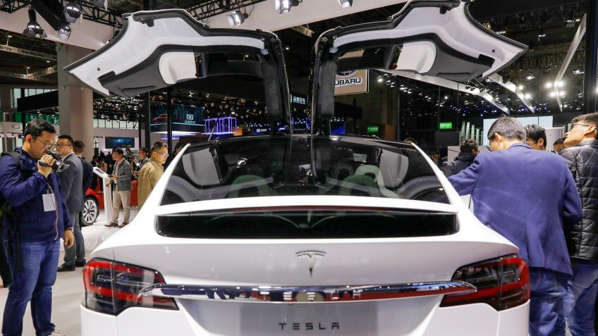 Tesla Model X at Auto Shanghai 2019 in China