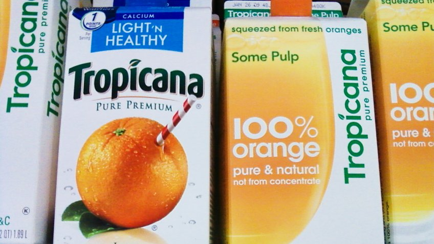 Tropicana old and new design