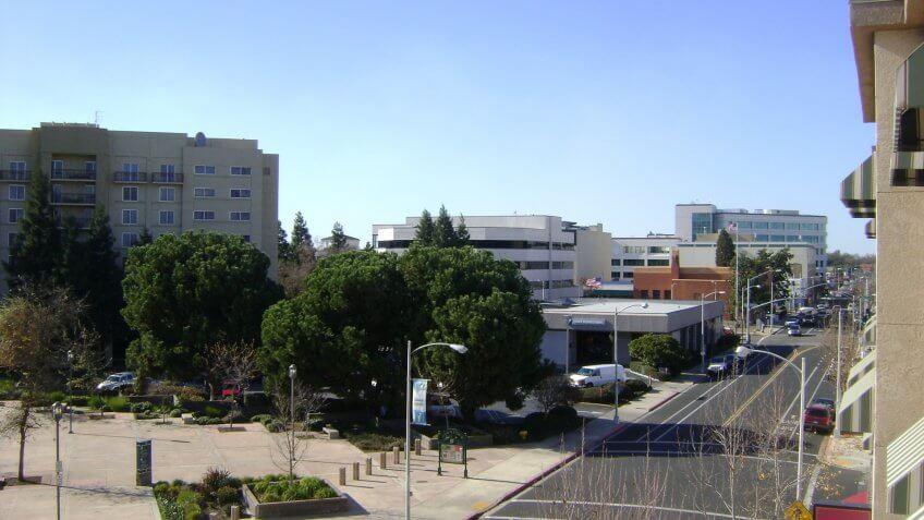 Visalia California Downtown.
