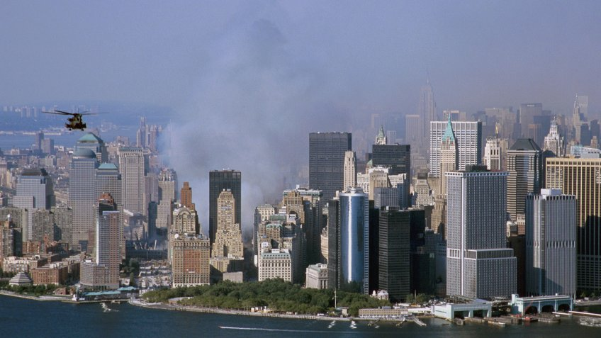 World Trade Center Towers attack in New York City on September 13th, 2001