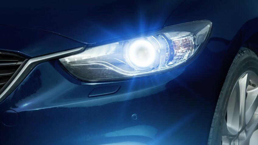 Angel eyes xenon headlight glowing optics lens - Image.