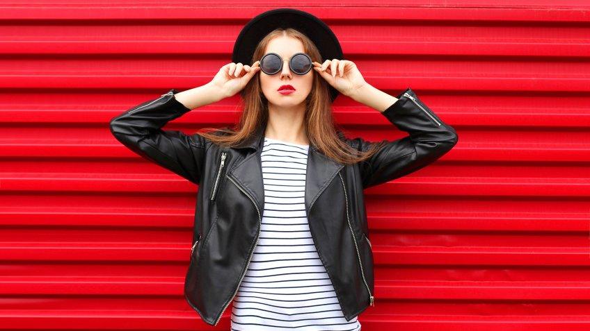 fashion model posing for fashion brand