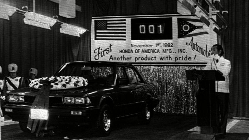 First Honda car manufactured in Marysville Ohio