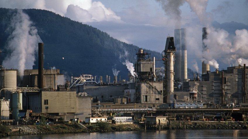 Lumber mill in British Columbia Canada