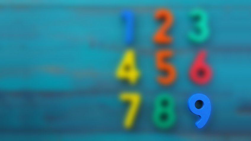 Preschool learn to count in order numbers from one (1) to nine (9).