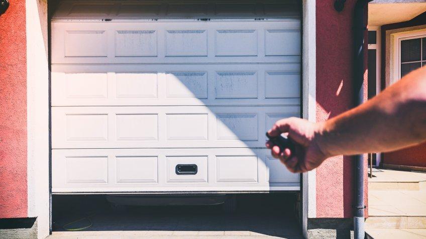 Garage door PVC.
