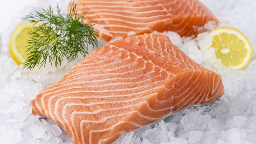 Salmon Filet on Ice - Image.